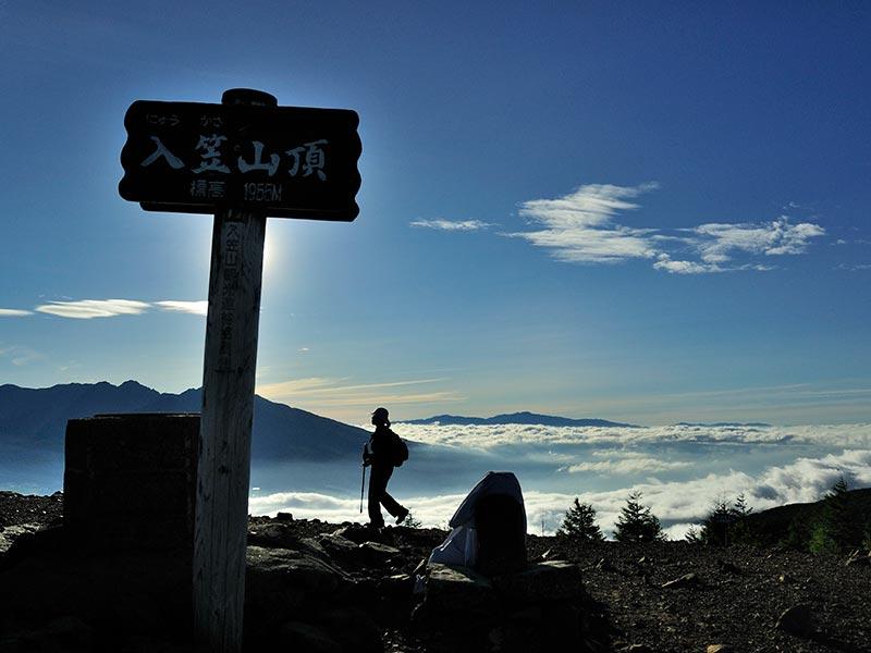 入笠山山頂と雲海
