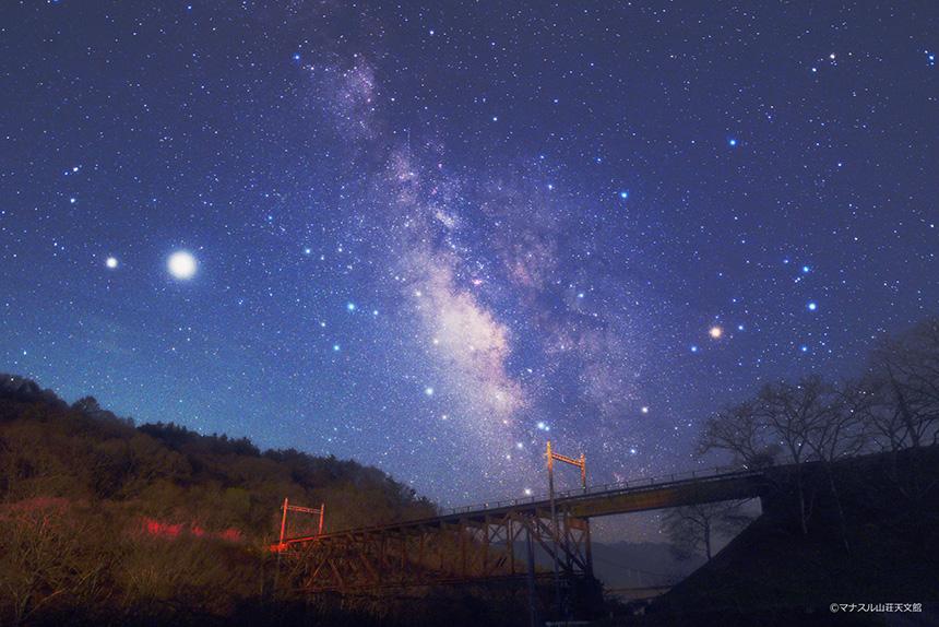 【天体写真】旧立場川橋梁に架かる天の川