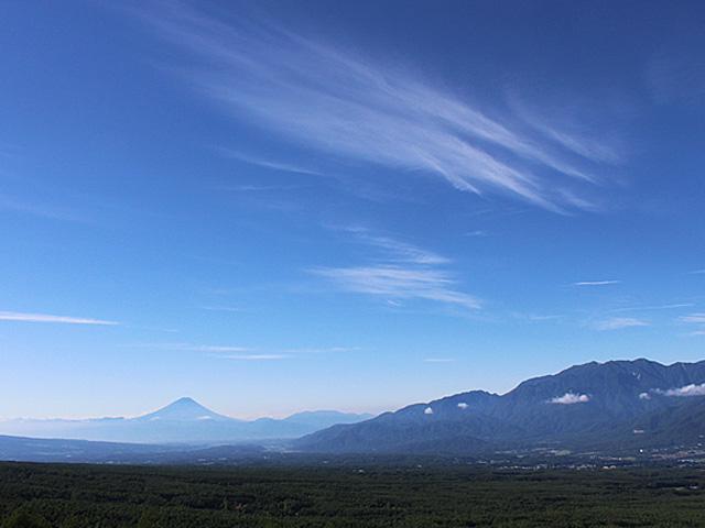富士山と南アルプス(彫刻の森より)