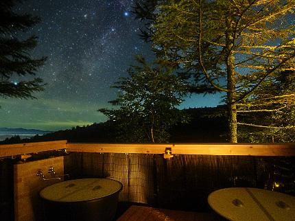 露天風呂 夜景