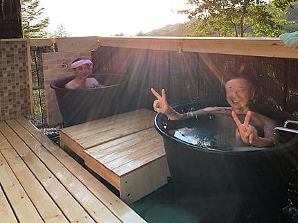 露天風呂 入浴