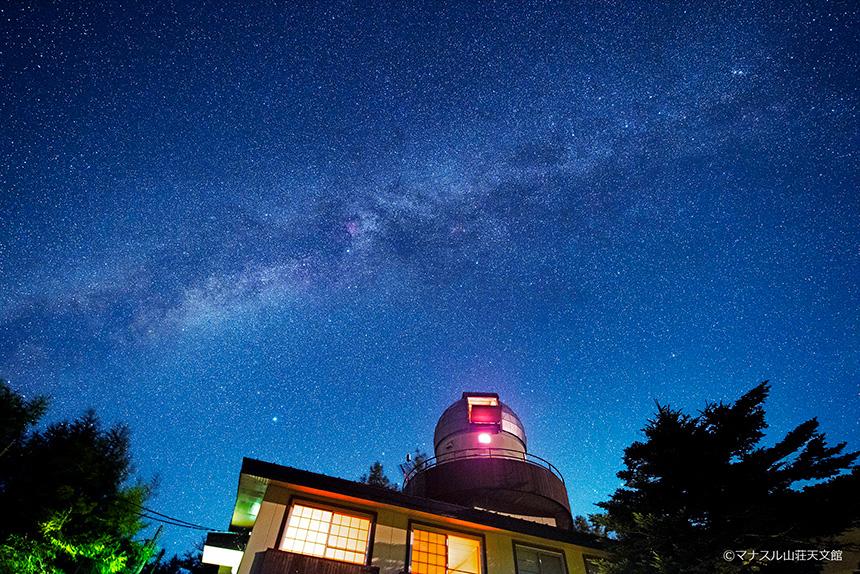 【天体写真】天文館と夏の天の川