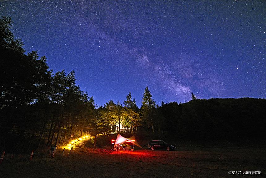 【天体写真】キャンプ場と天の川