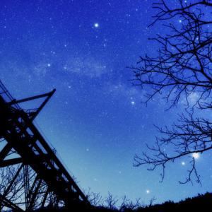 旧立場沢川橋梁と夏の大三角形